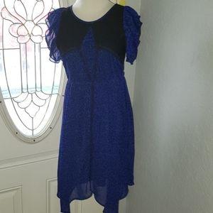 [Disney D-Signed] Blue Leopard Print Dress